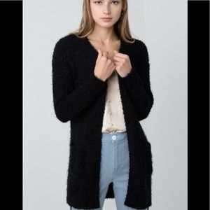 Sweaters - Soft eyelash popcorn knit cardigan ( COMING )